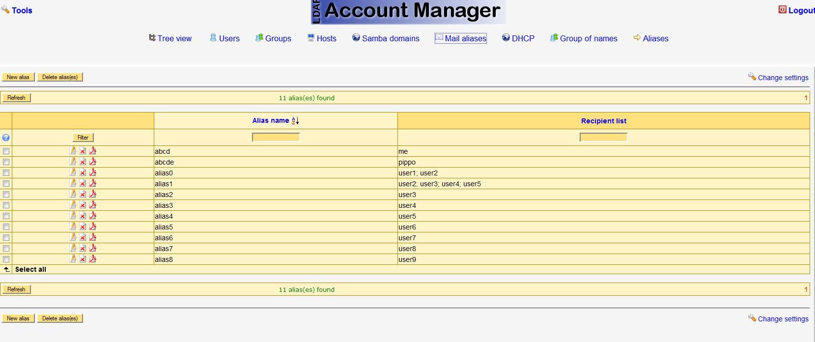 LDAP Account Manager | Web LDAP Account Manager :: by RDT & BZI